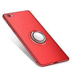 Coque Ultra Fine Silicone Souple Housse Etui avec Support Bague Anneau pour Xiaomi Redmi Note 5A Standard Edition Rouge
