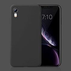 Coque Ultra Fine Silicone Souple Housse Etui HC01 pour Apple iPhone XR Noir