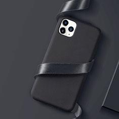 Coque Ultra Fine Silicone Souple Housse Etui S01 pour Apple iPhone 11 Pro Max Noir