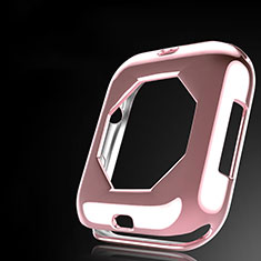 Coque Ultra Fine Silicone Souple Housse Etui S01 pour Apple iWatch 4 40mm Or Rose