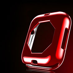 Coque Ultra Fine Silicone Souple Housse Etui S01 pour Apple iWatch 4 40mm Rouge
