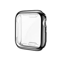 Coque Ultra Fine Silicone Souple Housse Etui S01 pour Apple iWatch 5 40mm Noir