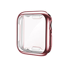 Coque Ultra Fine Silicone Souple Housse Etui S01 pour Apple iWatch 5 40mm Or Rose