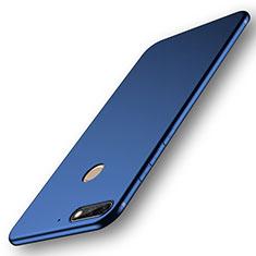 Coque Ultra Fine Silicone Souple Housse Etui S01 pour Huawei Y7 (2018) Bleu