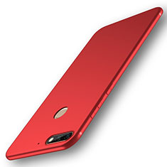 Coque Ultra Fine Silicone Souple Housse Etui S01 pour Huawei Y7 (2018) Rouge