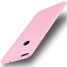 Coque Ultra Fine Silicone Souple Housse Etui S01 pour Huawei Y9 (2018) Rose