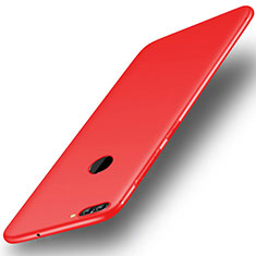 Coque Ultra Fine Silicone Souple Housse Etui S01 pour Huawei Y9 (2018) Rouge