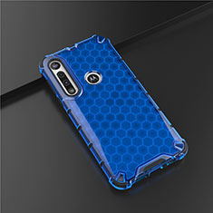 Coque Ultra Fine Silicone Souple Housse Etui S01 pour Motorola Moto G8 Play Bleu