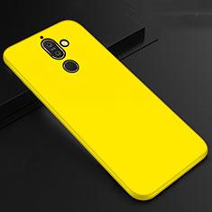 Coque Ultra Fine Silicone Souple Housse Etui S01 pour Nokia 7 Plus Jaune
