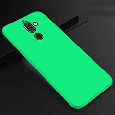 Coque Ultra Fine Silicone Souple Housse Etui S01 pour Nokia 7 Plus Vert