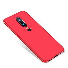 Coque Ultra Fine Silicone Souple Housse Etui S01 pour OnePlus 6 Rouge