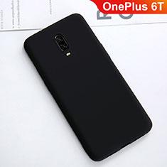Coque Ultra Fine Silicone Souple Housse Etui S01 pour OnePlus 6T Noir