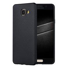 Coque Ultra Fine Silicone Souple Housse Etui S01 pour Samsung Galaxy A7 (2016) A7100 Noir