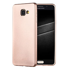 Coque Ultra Fine Silicone Souple Housse Etui S01 pour Samsung Galaxy A7 (2016) A7100 Or