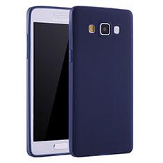 Coque Ultra Fine Silicone Souple Housse Etui S01 pour Samsung Galaxy A7 Duos SM-A700F A700FD Bleu