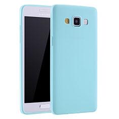 Coque Ultra Fine Silicone Souple Housse Etui S01 pour Samsung Galaxy A7 Duos SM-A700F A700FD Bleu Ciel