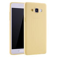 Coque Ultra Fine Silicone Souple Housse Etui S01 pour Samsung Galaxy A7 Duos SM-A700F A700FD Jaune