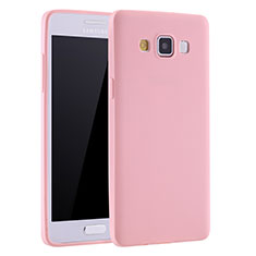 Coque Ultra Fine Silicone Souple Housse Etui S01 pour Samsung Galaxy A7 Duos SM-A700F A700FD Rose