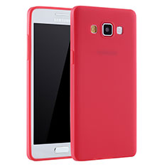 Coque Ultra Fine Silicone Souple Housse Etui S01 pour Samsung Galaxy A7 Duos SM-A700F A700FD Rouge
