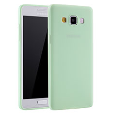 Coque Ultra Fine Silicone Souple Housse Etui S01 pour Samsung Galaxy A7 Duos SM-A700F A700FD Vert