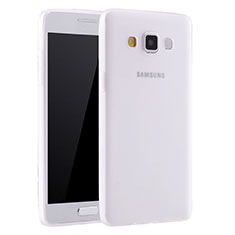 Coque Ultra Fine Silicone Souple Housse Etui S01 pour Samsung Galaxy A7 SM-A700 Blanc