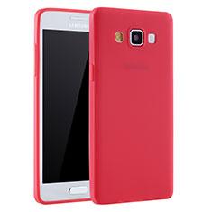 Coque Ultra Fine Silicone Souple Housse Etui S01 pour Samsung Galaxy A7 SM-A700 Rouge