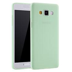 Coque Ultra Fine Silicone Souple Housse Etui S01 pour Samsung Galaxy A7 SM-A700 Vert