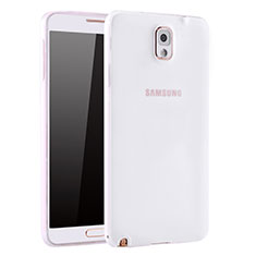 Coque Ultra Fine Silicone Souple Housse Etui S01 pour Samsung Galaxy Note 3 N9000 Blanc