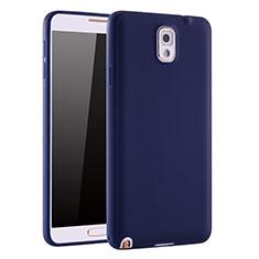 Coque Ultra Fine Silicone Souple Housse Etui S01 pour Samsung Galaxy Note 3 N9000 Bleu