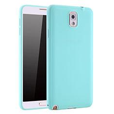 Coque Ultra Fine Silicone Souple Housse Etui S01 pour Samsung Galaxy Note 3 N9000 Bleu Ciel