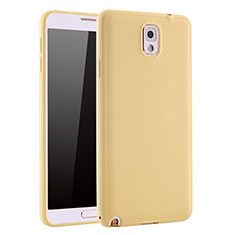 Coque Ultra Fine Silicone Souple Housse Etui S01 pour Samsung Galaxy Note 3 N9000 Or