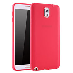 Coque Ultra Fine Silicone Souple Housse Etui S01 pour Samsung Galaxy Note 3 N9000 Rouge