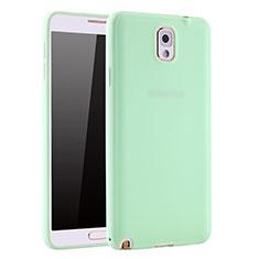 Coque Ultra Fine Silicone Souple Housse Etui S01 pour Samsung Galaxy Note 3 N9000 Vert