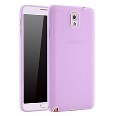 Coque Ultra Fine Silicone Souple Housse Etui S01 pour Samsung Galaxy Note 3 N9000 Violet