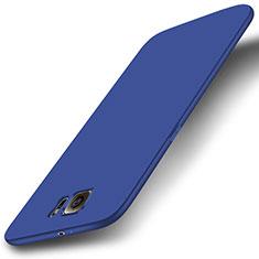 Coque Ultra Fine Silicone Souple Housse Etui S01 pour Samsung Galaxy S6 Duos SM-G920F G9200 Bleu
