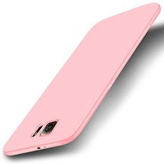Coque Ultra Fine Silicone Souple Housse Etui S01 pour Samsung Galaxy S6 Duos SM-G920F G9200 Rose