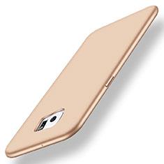 Coque Ultra Fine Silicone Souple Housse Etui S01 pour Samsung Galaxy S6 Edge+ Plus SM-G928F Or