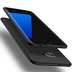 Coque Ultra Fine Silicone Souple Housse Etui S01 pour Samsung Galaxy S7 Edge G935F Noir