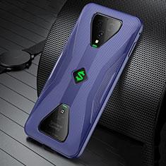 Coque Ultra Fine Silicone Souple Housse Etui S01 pour Xiaomi Black Shark 3 Pro Bleu