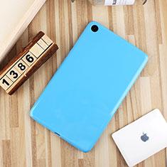 Coque Ultra Fine Silicone Souple Housse Etui S01 pour Xiaomi Mi Pad 4 Bleu Ciel