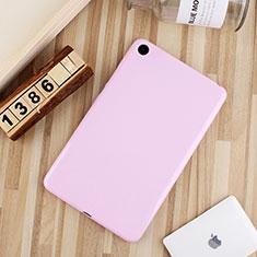 Coque Ultra Fine Silicone Souple Housse Etui S01 pour Xiaomi Mi Pad 4 Plus 10.1 Rose