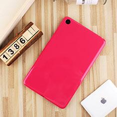 Coque Ultra Fine Silicone Souple Housse Etui S01 pour Xiaomi Mi Pad 4 Rose Rouge