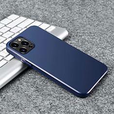 Coque Ultra Fine Silicone Souple Housse Etui S02 pour Apple iPhone 12 Pro Max Bleu