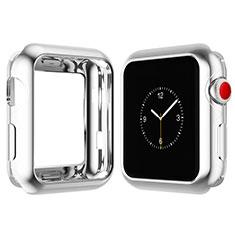 Coque Ultra Fine Silicone Souple Housse Etui S02 pour Apple iWatch 4 40mm Argent
