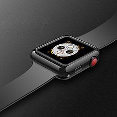 Coque Ultra Fine Silicone Souple Housse Etui S02 pour Apple iWatch 4 40mm Noir