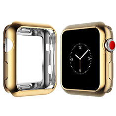 Coque Ultra Fine Silicone Souple Housse Etui S02 pour Apple iWatch 4 40mm Or