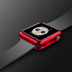 Coque Ultra Fine Silicone Souple Housse Etui S02 pour Apple iWatch 4 40mm Rouge