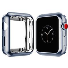 Coque Ultra Fine Silicone Souple Housse Etui S02 pour Apple iWatch 4 44mm Bleu Ciel