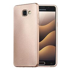 Coque Ultra Fine Silicone Souple Housse Etui S02 pour Samsung Galaxy A5 (2016) SM-A510F Or