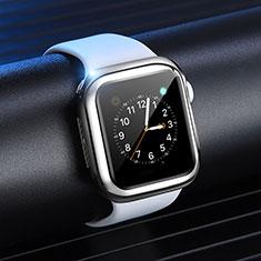 Coque Ultra Fine Silicone Souple Housse Etui S03 pour Apple iWatch 4 40mm Argent